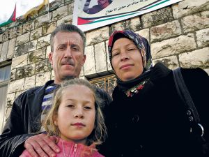 Ahed Tamimi and family