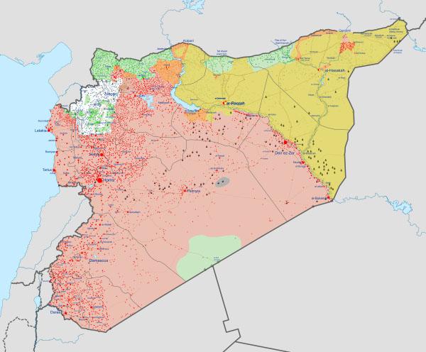 Syria-Turkey map